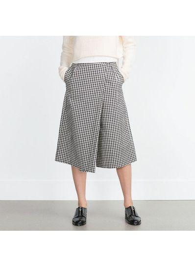 Plaid Crop Pants