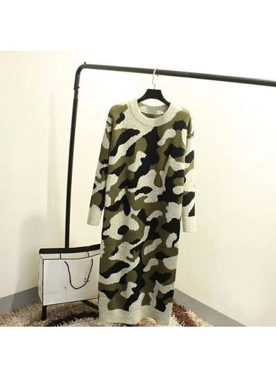 Camouflage Sweater - Green - KP001404