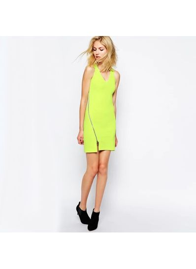 Trendy Side Zip Bodycon Dress