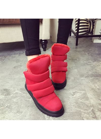 Stylish Cloth Boots - Red