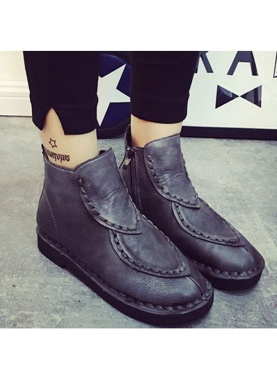 PU Boots Gray - KP001377