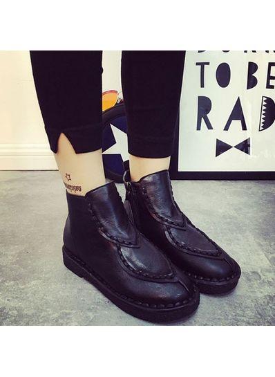 PU Boots Black - KP001376