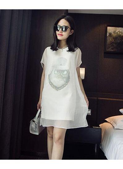 Korean Style Animal printed dress