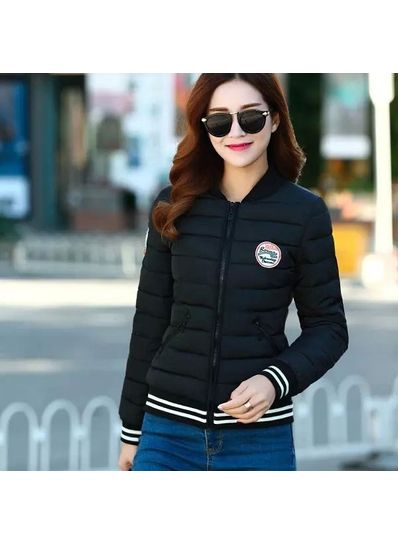 Trendy Padded Jacket- Black - KP001408
