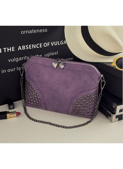 Cute Studded Party Bag Purple - KP001464