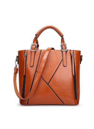 Zipper Design PU Handbag - KP001475