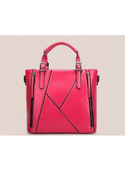 Zipper Design PU Handbag - KP001477