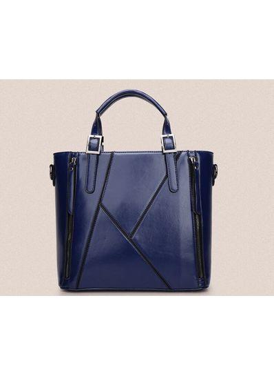 Zipper Design PU Handbag - KP001478