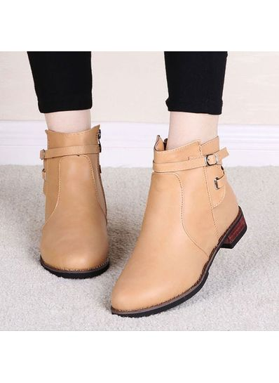 Solid Color  PU Boots - KP001486