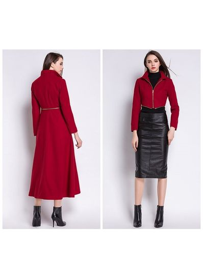 High Quality Detachable Long Coat - KP001495