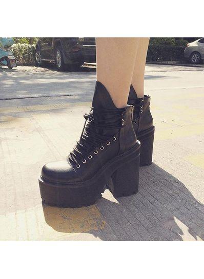 Lace Up Platform Boots - KP001523