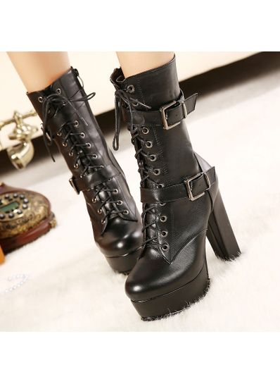 Buckle High Boots - KP001526