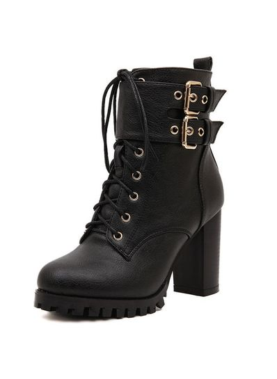 Buckle High Boots - KP001527