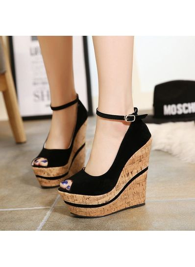 Pure Color Stylish Wedge - KP001533