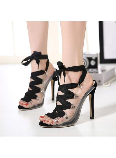 Black Bandage Sandals - KP001540