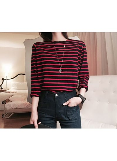 Striped Long Sleeve T-shirt - KP001577