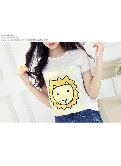 Cute lion Print T-shirt - KP001592