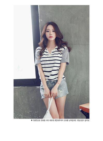 Cute Striped T-shirt - KP001598