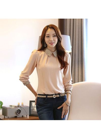 Pink Studded Blouse - KP001605