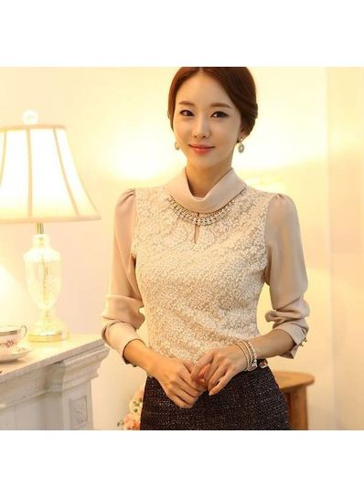 Pink Lace Blouse - KP001606