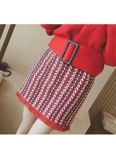 Fringed Skirt - KP001643