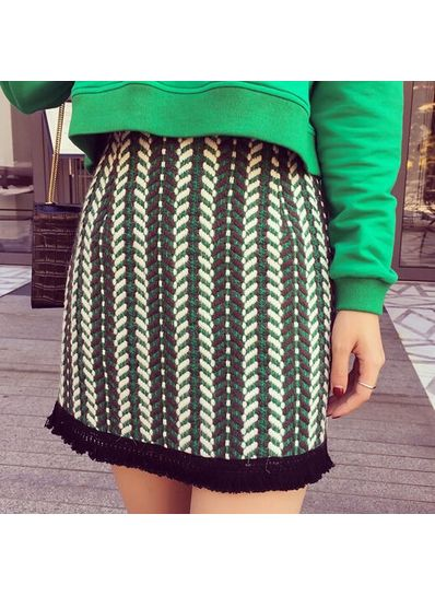 Fringed Skirt - KP001644