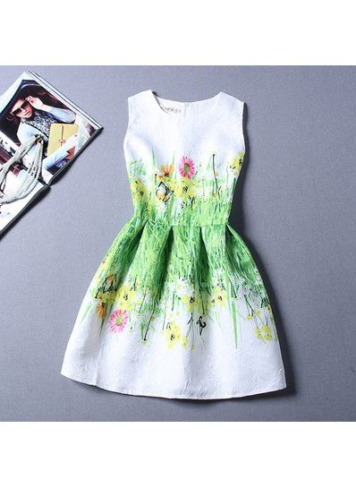 Cute Printed Summer Dress - KP001650