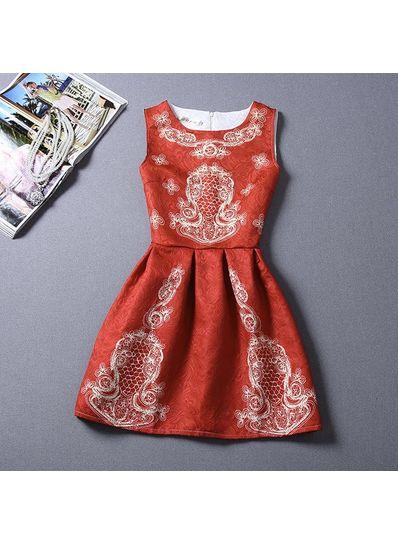 Cute Printed Summer Dress - KP001652