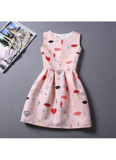 Cute Printed Summer Dress - KP001658
