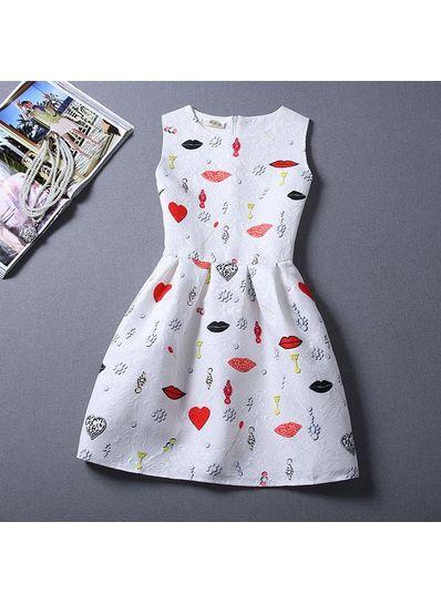 Cute Printed Summer Dress - KP001659