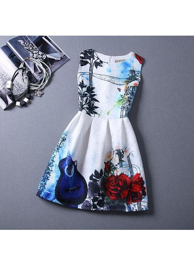 Cute Printed Summer Dress - KP001661