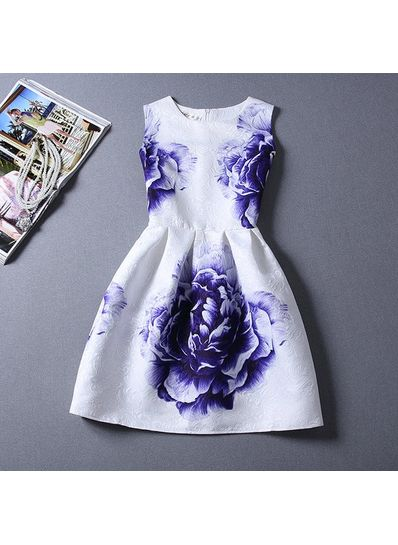 Cute Printed Summer Dress - KP001664