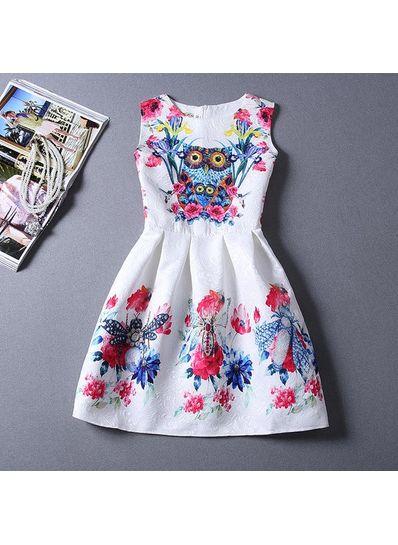 Cute Printed Summer Dress - KP001666
