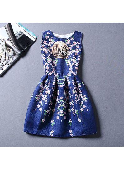 Cute Printed Summer Dress - KP001667