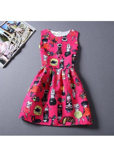 Cute Printed Summer Dress - KP001668