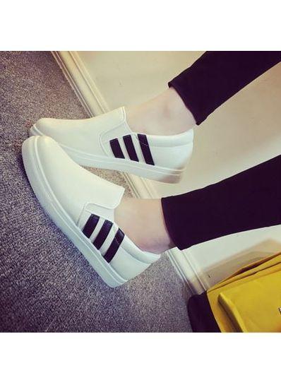 Popular Design Strip Loafers - KP001687