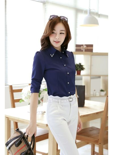 Popular Design Office Shirt in 7 colors - KP001705
