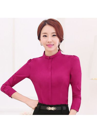 Puff Sleeve Office Blouse in 4 Colors - KP001706