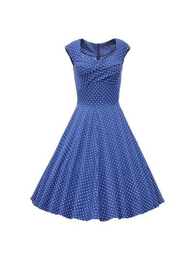 Polka Dot Summer Dress in 4 Colors - KP001712