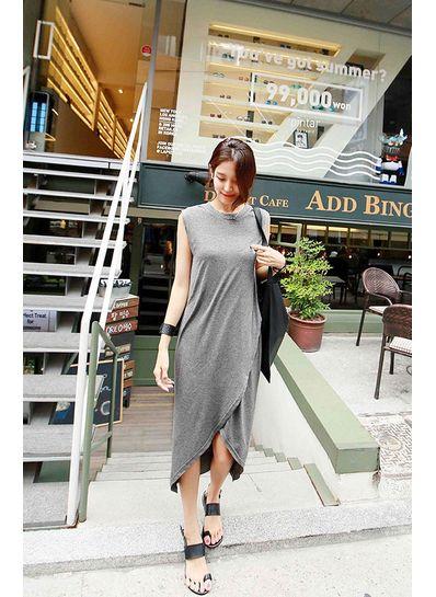 Stylish Slit Dress in 2 Colors- KP001714