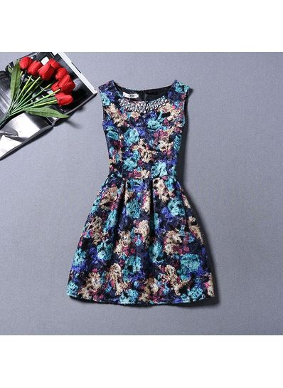 Cute O-Neck Party Dress - KP001716