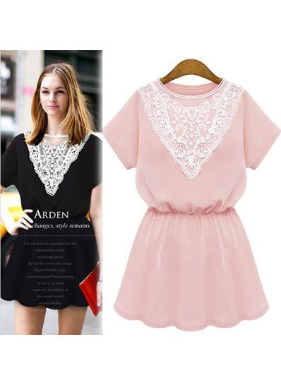 High Quality Lace Design Dress in 3 Colors - KP001717