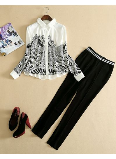 High Quality Trouser + Shirt Set - KP001724