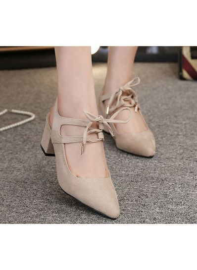 Strap Chunky Heels in 2 Colors - KP001753