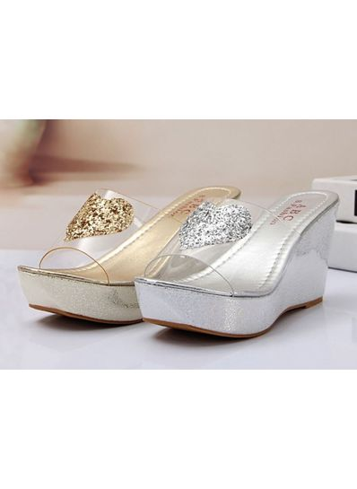 Cute Shiny Wedge Slip-Ons - KP001755