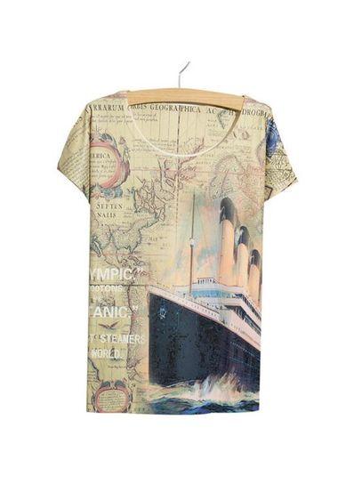 Titanic Printed Tee - KP001792