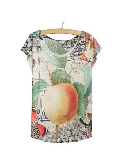 Sweet Fruit Printed Tee - KP001796