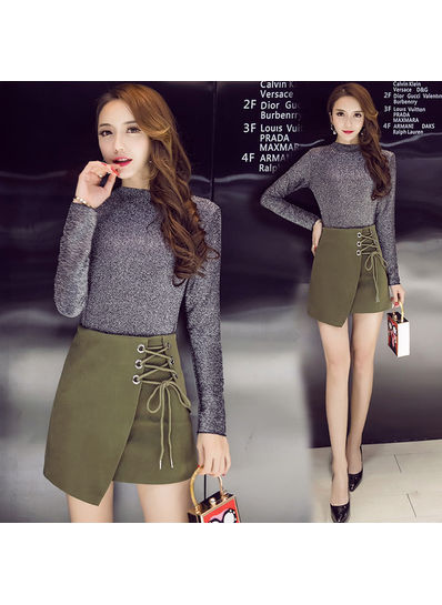 Lace up Skirt + Top - KP001830