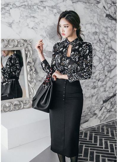 Floral Top + Skirt - KP001839