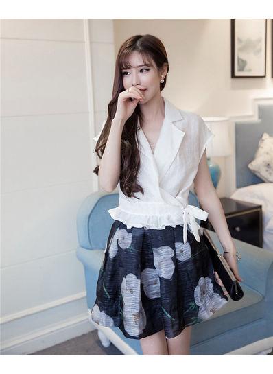 Floral Skirt + Blouse - KP001842
